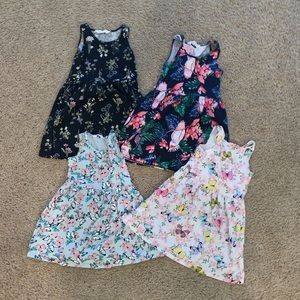 Bundle of 4 little girls summer dresses